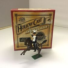 William Britains Hollowcast Officer on Rearing Horse 40196