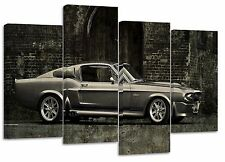 ford mustang gt500 retro/set of 4 new canvas split prints