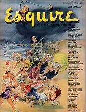 1946 Esquire August - Vivien Leigh as Cleopatra; Dali Cartoon; Duke Ellington