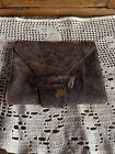 Antique civil war era leather wallet Inscription Estate Collectors Delight