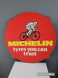 """Michelin Pictorial Hard board Advertising Sign 24"""""""