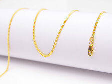 Chain Flat Curb Necklaces For Pendant 1Pcs 22inch Jewelry 18K Yellow Gold Filled