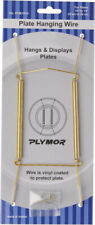 "Plymor Gold Wall Mountable Plate Hanger 6 Pk 8""H x 3""W x .5""D (Plates 10""-14"")"