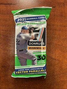 2021 Donruss Baseball 30-Card CELLO FAT PACK Factory Sealed