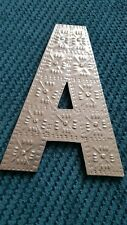 wall decor silver look letter A bnwob 20cm