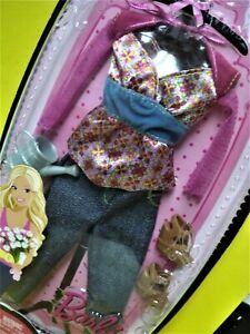Barbie FASHION FEVER Doll Clothes Set HIPSTER DENIM JEANS Fashion 2009 Last Wave
