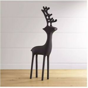 "Crate & Barrel ZINC Standing Large Reindeer  25"" Christmas Decor"