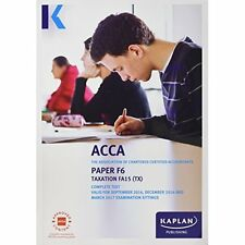 Good, F6 Taxation - Complete Text (Acca Complete Texts), , Book