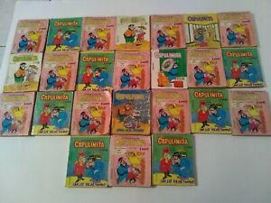 Aventuras De Capulinita -24pz Mexican comics from the 1980's-Very RARE! Memin