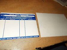 1981 1982 1983 CHEVROLET SIERRA BLAZER AND TRUCK SERVICE ID PARTS DECAL SET