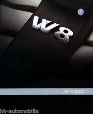 VW Passat W8 Prospekt Technische Daten 7 01 brochure 2001 Auto PKWs Autoprospekt