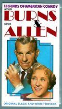 George Burns & Gracie Allen Legends Of American Comedy - B&W FS VHS - Sealed/New