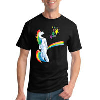 Offensive Peeing Unicorn Funny Rainbow Tee Graphic Horse Humor Novelty T-Shirt