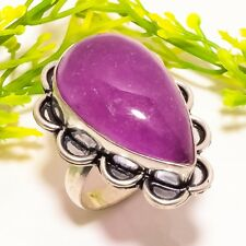 African Amethyst Gemstone Handmade Fashion Jewelry Ring Size 7.5 SR-701