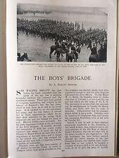 Boys' Brigade Cape Battalion Military training Africa Rare Antique Article 1902