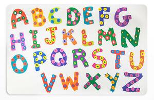 Schreibtischunterlage ABC Alphabet auf hellem Grund 40x60 abwischbar Buchstaben