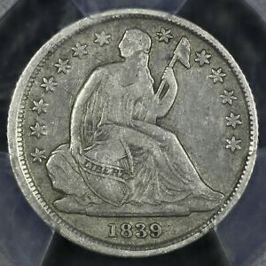 1839-O 10c Seated Liberty Silver Dime PCGS VF25 rare old type coin money