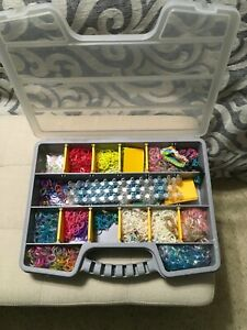 Large RAINBOW LOOM and Bands in Container Store Case