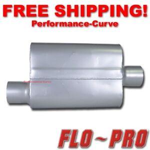 """2 Chamber Performance Exhaust Street Muffler FLO-PRO Super V - 3"""" O/C - V43041"""
