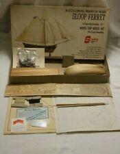 L@K Vintage Sterling Model A Colonial Man Of War Sloop Ferret Wood Ship Model