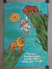 Vintage You Are Broadminded If Both Sides Make You Laugh Poster 14x21