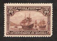 #103 - Canada - 1908 - 20 Cent - MH cv $275 as F/VF but creased - superfleas