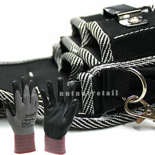 Donghwa Work Gloves and A 9 Pockets Handy Electrician Carpenter Tool Pouch