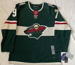 Kirill Kaprizov Minnesota Wild adidas Authentic Home Jersey Size 52 Pro Stitched