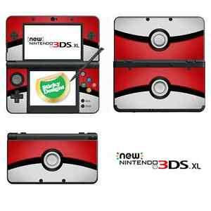 Pokémon Pokeball Vinyl Skin Sticker for NEW Nintendo 3DS XL (with C Stick)