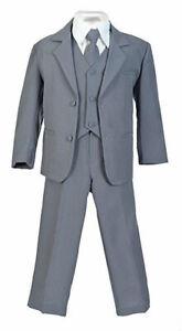 Boys Suit Kids Children Formal Dress Party Toddler 6 Colors Size S-XL 2T-4T 5-20