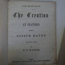 VOCAL SCORE Haydn la creazione, ANTICO INGLESE DA G F Harris