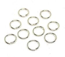 sterling silver 925 open jump rings 8mm 18 gauge