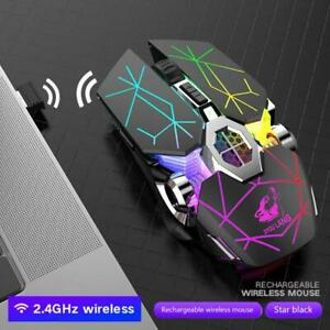X13 Wireless Charging Game Mouse Mute Luminous Mechanical Mouse Mice Gaming Kit