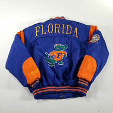 VTG Florida Gators Nutmeg Mills Campri Jacket Mens MEDIUM Blue Orange SPELL OUT