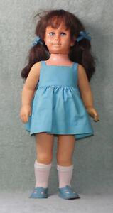 "1960s MATTEL CHATTY CATHY BRUNETTE BLUE SLEEPY EYES 19 1/2"" GIRL DOLL"