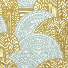Marimekko VUORILAAKSO gold silver paper Napkins Dinner size 40cm 3 ply 20 pack