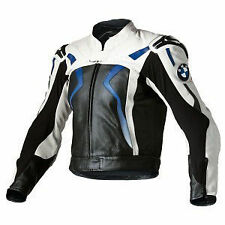 BMW Sports Racing Motorbike Cowhide Leather Jacket Biker Motorcycle Protection