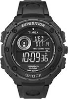 Timex Mens Expedition Vibe Shock Black Digital Display with Black Resin Strap W