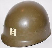 Post-WWII 1951 Korean War US CAPAC M1 helmet liner w/ Captain's rank - not decal