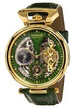 """NEU: Calvaneo 1583 """"Compendium Gold Britannic""""High Luxury Squelette Automatikuhr"""