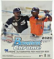 2020 Bowman Chrome Baseball - (1) Hobby Box Random Team BREAK #001