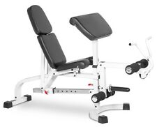 XMark FID Flat Incline Decline Weight Bench W Leg Extension and Preacher Curl