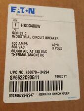 EATON CUTLER HAMMER HKD Circuit Breaker 3 Pole 400 Amp  HKD3400w