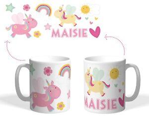 Personalised Printed Plastic Mug, unbreakable children's cup! Pretty Unicorn