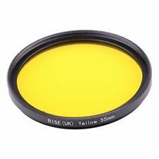 55mm Full Yellow Color Lens Filter Wit Thread Mount For all DSLR SLR Camera Lens