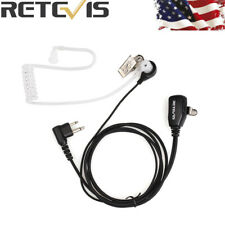 Retevis 2Pin PTT Mic Earpiece Covert Acoustic Tube Headset for Motorola Radio US