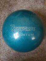 Rare Columbia 300 Renegade Titanium 15lb green Bowling Ball B028
