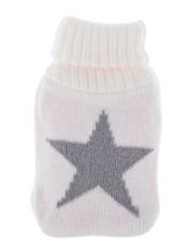 Accessoire bien être : Chauffe mains avec housse blanche étoile argentée