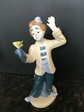 "Collectible Clown Figurine;  Porcelana De Cuernavaca, Paul Sebastian,  8"" Tall"