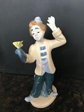 "Collectible Clown Figurine; Porcelana De Cuernavaca, Paul Sebastian, 8"" Tall"